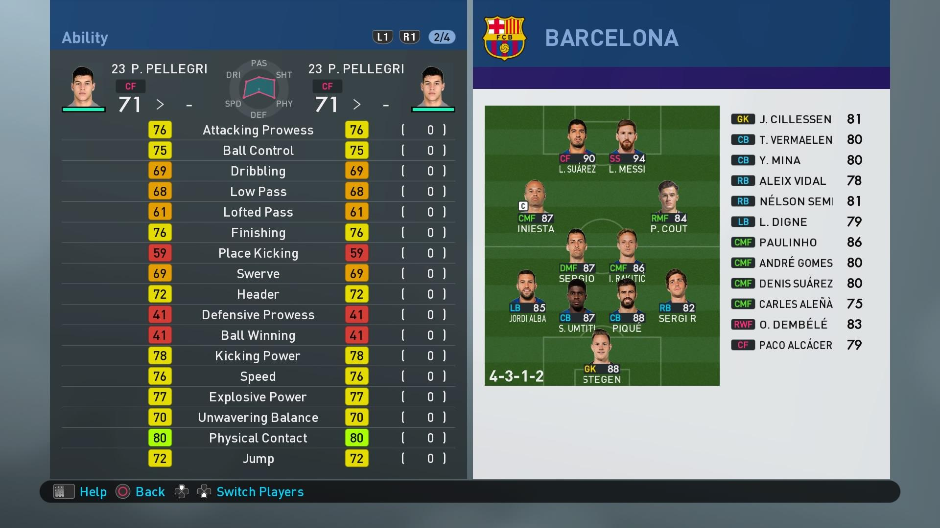 Player Stats PES 2019 - Page 7 - PES Discussion - Pro Evo