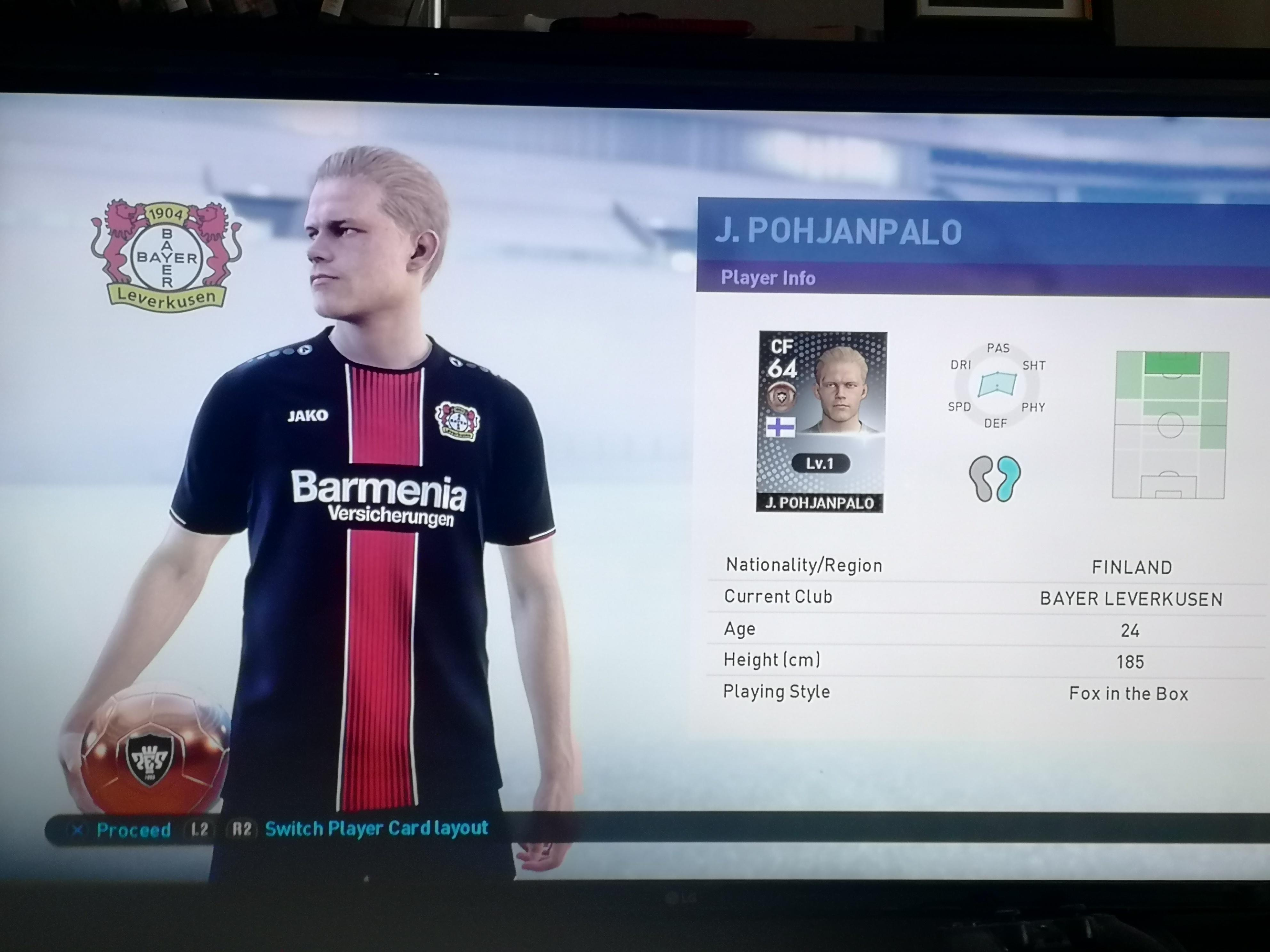 100% Scout Combinations - My Club - Pro Evo Network Forums