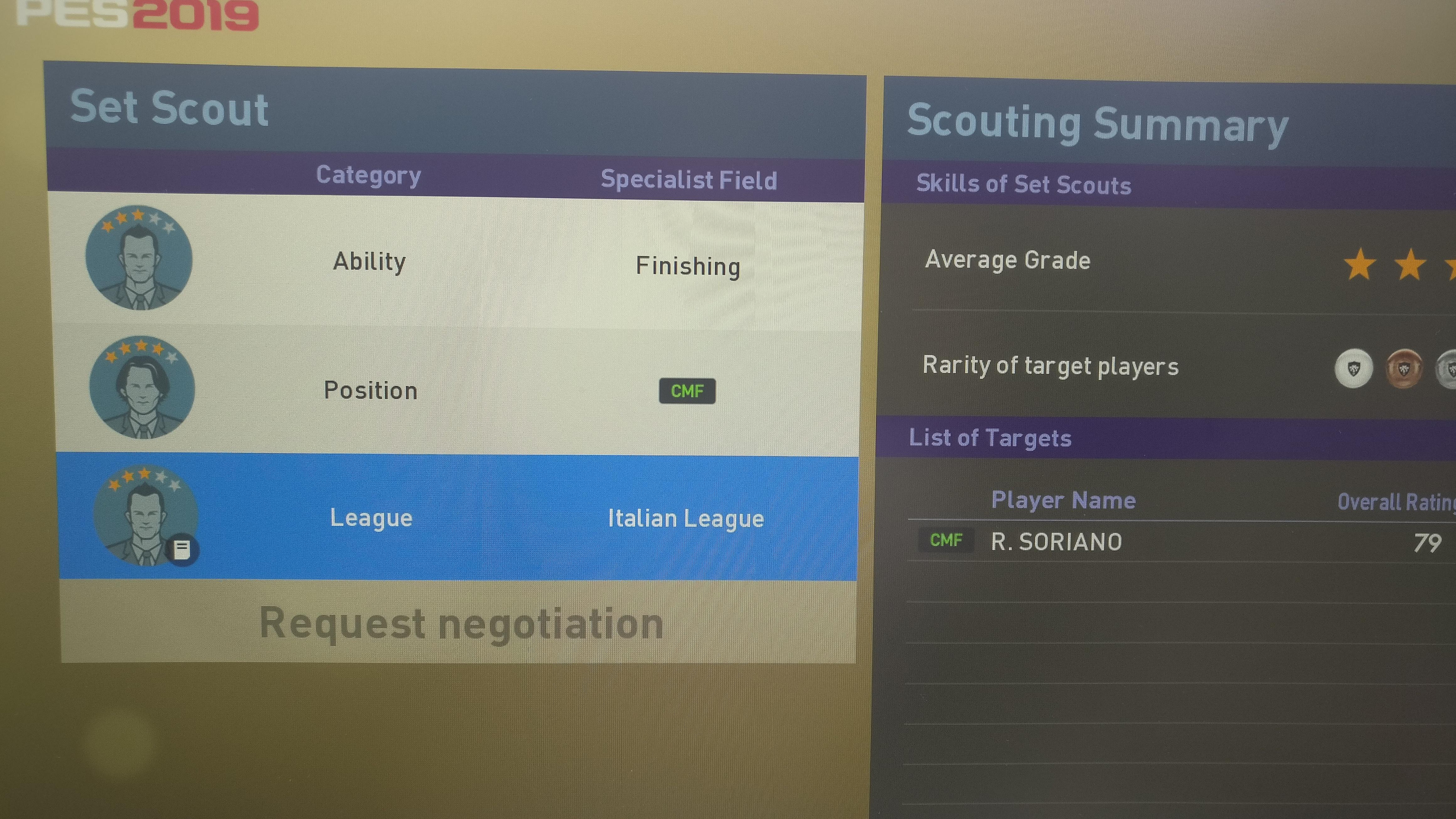 100% Scout Combinations - Page 2 - My Club - Pro Evo Network